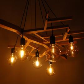 Designerskie łóżko drewniane